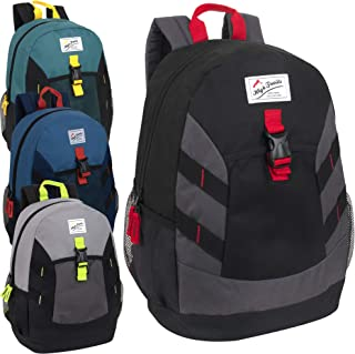 High Trails Wholesale 18 Inch Backpacks With Water Bottle Holder, In Bulk 24 Packs (Assorted Boys)