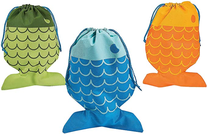 Little Fisherman Drawstring Bags