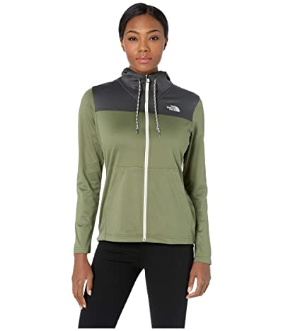 The North Face Tech Mezzaluna Hoodie (Four Leaf Clover/Asphalt Grey) Women