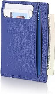 RFID Mens Thin Minimalist ID Card Case Slim Front Pocket Wallets 4 Top Styles