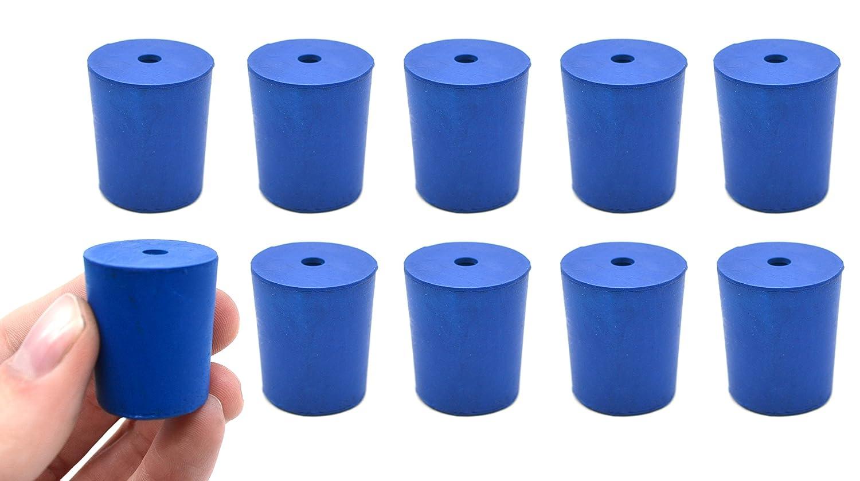 10PK Neoprene Stoppers 1 Hole - 21mm Max 72% OFF Blue Size: 1 year warranty Bottom 24mm