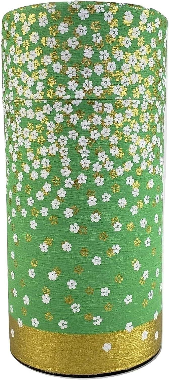 Finally resale start Japanese tea canister tin Hanazono air-tight Light Omaha Mall double green