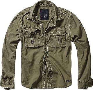 Brandit Vintage Camicia Maniche Lunghe E Maniche Corte, Taglie S Fino A 7XL