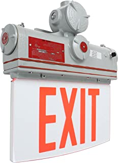 Explosion Proof Exit Sign - Class I, Division I - IP65-120V/277VAC - Emergency Battery Back-Up(-Wall-Red)