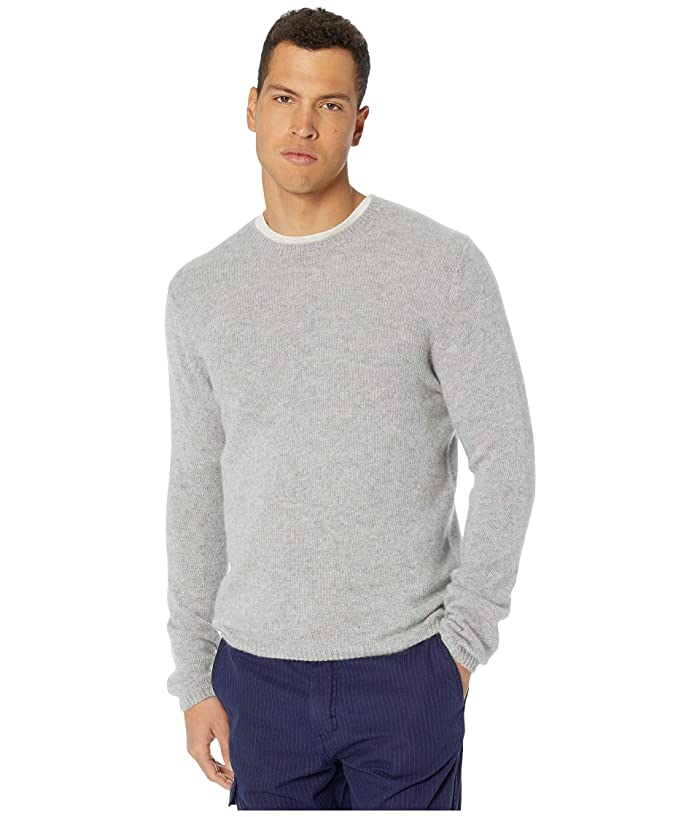 Vince  Long Sleeve Cashmere Crew Sweater (Heathered Grey) Mens Clothing