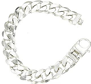 Armkette breites Armband Schweres Panzerarmband in Silber 925 Silberarmband