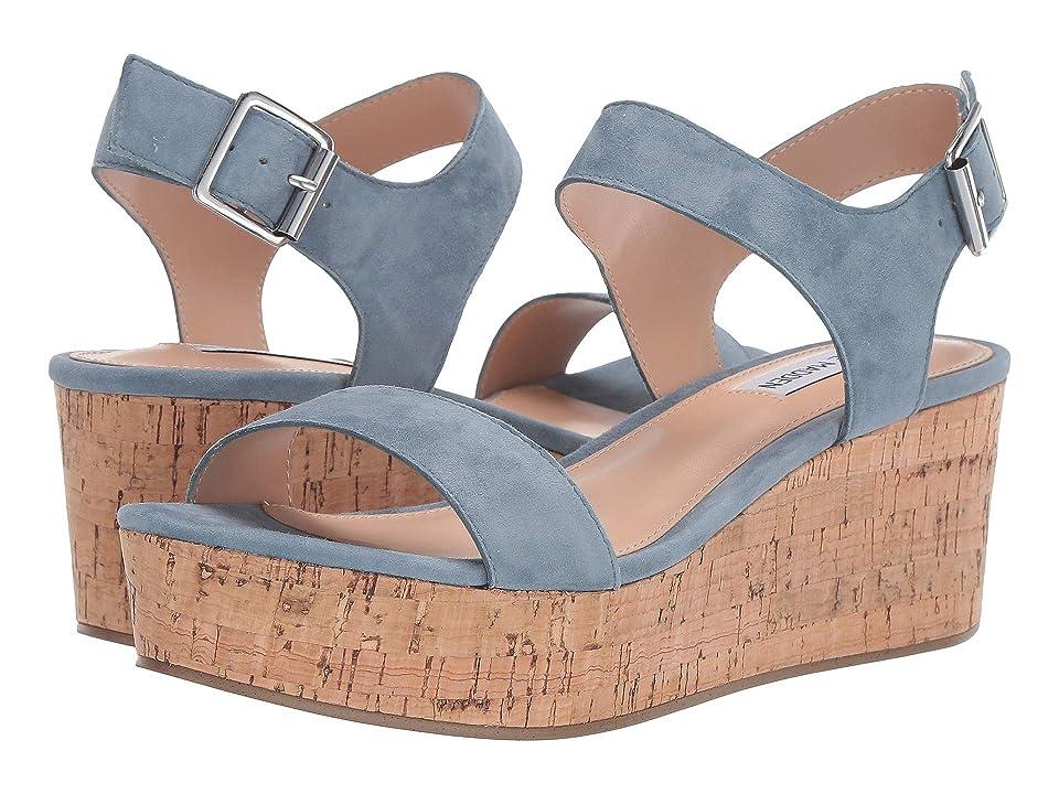 Steve Madden Breathe Wedge Sandal (Light Blue) Women
