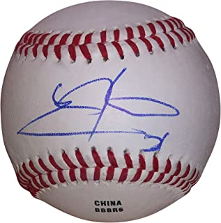Texas Rangers Chris Martin Autographed Hand Signed Baseball with Proof Photo of Signing, New York Yankees, Colorado Rockies, Hokkaido Nippon Ham Fighters, COA