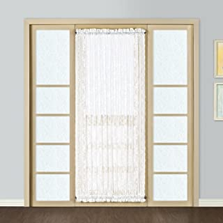 United Curtain Windsor Lace Door Curtain Panel, 56 by 72-Inch, White