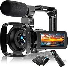 Video Camera Camcorder Ultra HD 2.7K 24FPS 36.0 MP IR...