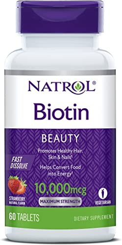 Natrol - Biotin Beauty Fast Dissolve Maximum Strength Strawberry 10000 mcg. - 60 Tablets