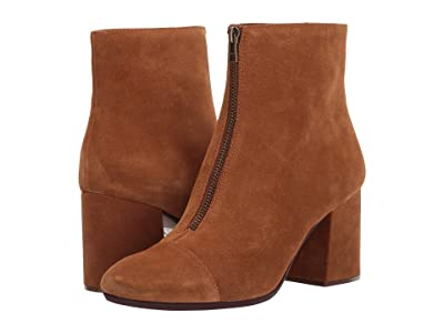 Madewell Rita Front Zip Boot (Equestrian Brown Suede) Women