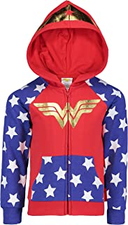 DC Comics Wonder Woman Batgirl Girls Fleece Hoodie with 3D Accents