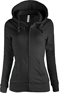 TL Women's Basic Solid Warm Knitted Casual Zip-Up Hoodie Jackets in Colors 8447_BLACK, Large
