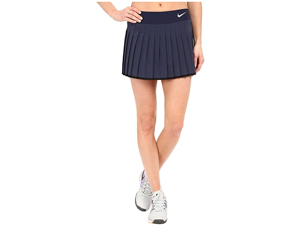 Nike Victory Skirt (Midnight Navy/Heather/White) Women