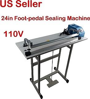 110V 24in Foot-pedal Sealing Machine Pulse Plastic Bag Sealer
