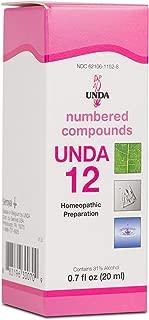 UNDA - UNDA 12 - Numbered Compounds - Homeopathic Preparation - 0.7 fl oz (20 ml)