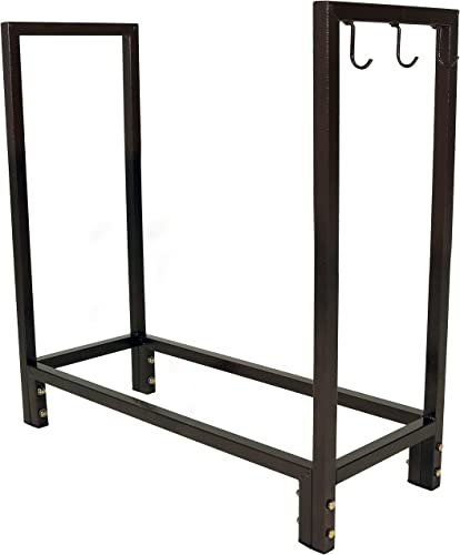 wholesale Sunnydaze Firewood Log Rack lowest - Indoor or Outdoor Wood Storage Holder for Fireplace or Fire Pit - Steel Construction wholesale with Powder-Coated Bronze Finish - 30-Inch online