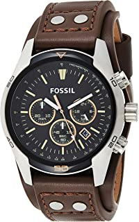 Fossil Coachman Men's Black Dial Leather Analog Watch - CH2891
