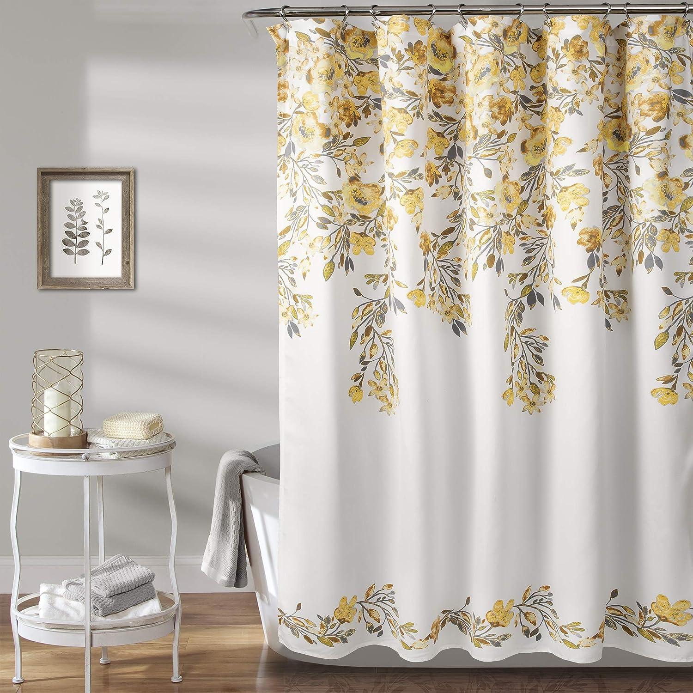shopping Lush Decor Yellow Gray Tanisha Max 90% OFF Curtain x 72