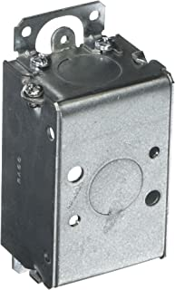 Hubbell-Raco 400 1-1/2-Inch Deep Switch Electrical Box, Gangable with Plaster Ears, (2) 1/2-Inch End Knockouts, 3-Inch x 2-Inch