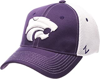 Kansas State University KSU Wildcats Purple Rally 2 Top Adult Mens/Womens/Boys Flex Fitted Baseball Hat/Cap Size Medium Large