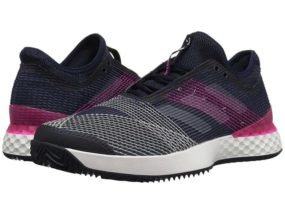 huge discount a4ee0 a8600 adidas Adizero Ubersonic 3 Clay (Legend InkWhiteShock Pink) Mens Shoes