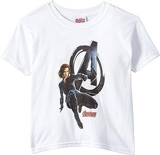Marvel Girl's Avengers Age of Ultron Black Widow Short Sleeve T-Shirt