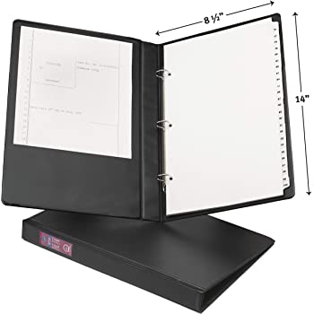 Avery 06400 Legal Durable Non-View Binder with Round Rings, 14 x 8 1/2, 1 Capacity, Black