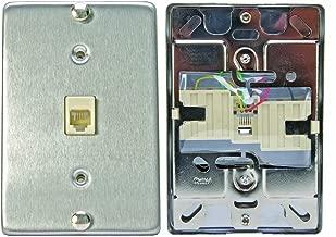 Leviton C0256-SS Telephone Wall Phone Wallplate Surface Mount Jack