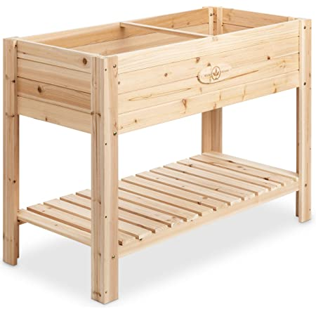 Cedar Raised Planter Box with Legs – Elevated Wood Raised Garden Bed Kit – Grow Herbs and Vegetables Outdoors – Naturally Rot-Resistant - Unmatched Strength Lasts Years (4x2) by Boldly Growing