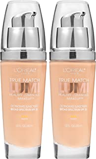 L'Oreal Paris Cosmetics True Match Lumi Healthy Luminous Makeup, Nude Beige, 2 Count