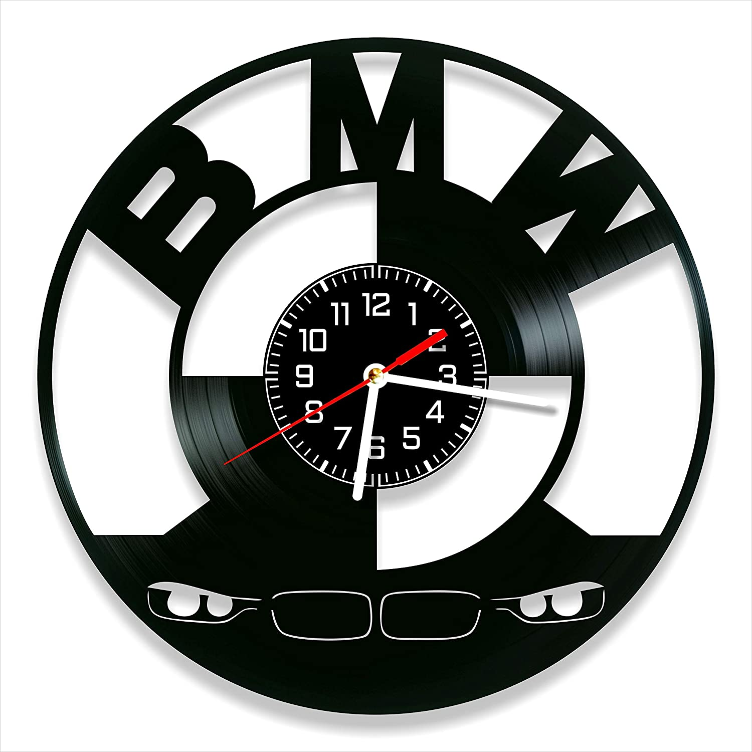 BMW Vinyl Clock, Club Wall Clock 12 inch (30 cm), Original Gifts for Fans BMW, The Best Home Decorations, Unique Art Decor, Original Idea for Home Decor