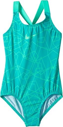 Nova Flare Prism Crossback One-Piece (Little Kids/Big Kids)