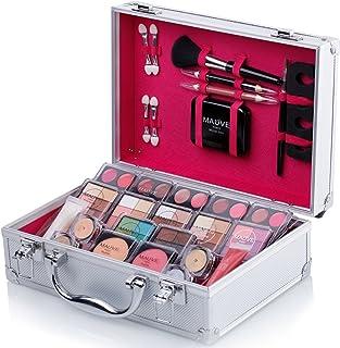 Mixed Beauty Makeup Kits Cosmetic Case Set Eyeshadow Palette Blushes Lip Makeup Jewellery Box MU17 (Silver)