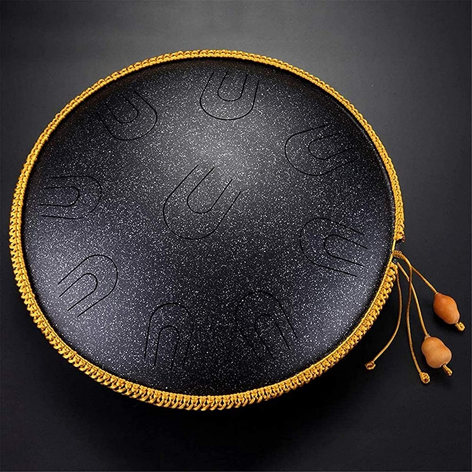 Handpan Drum Tank Drum with Bag Rubber Mallets for Musical Education Concert Mind Healing Yoga Meditation WENJIE Steel Drums Steel Tongue Drum 14 inches 9 Notes Percussion Instrument D Minor