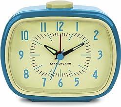 Kikkerland - Reloj despertador, diseño retro, color azul