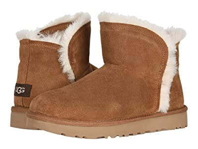 UGG Classic Mini Fluff High-Low (Chestnut) Women