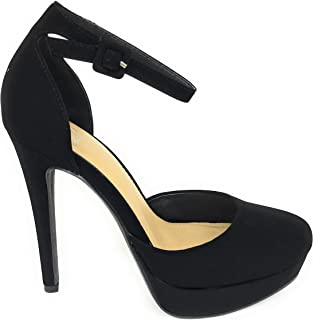 Women's Blade Dress Casual Club Ankle Strap Closed Toe Pumps