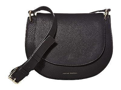 Loeffler Randall Cecil Leather Saddle Bag (Black 2) Handbags