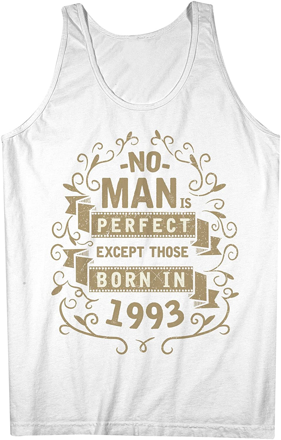 No Man Is Perfect Except Those Born In 1993 お誕生日 男性用 Tank Top Sleeveless Shirt