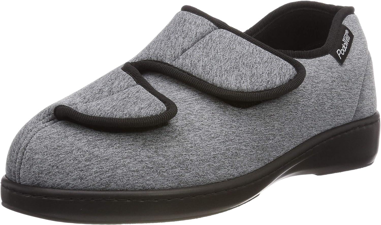 PodoWell Unisex Adults Alberta Low-Top Slippers, (grey 7328160) 6 UK