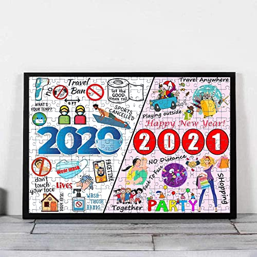discount 2020 Puzzle Quarantine 1000 Pieces, Jigsaw Puzzles, Paper Puzzles Pieces,Stress Relief Educational Toy with Packing Box to Memorialize This Hard online Year, Gift wholesale for New Year,Valentines'Day (2020/2021) outlet sale