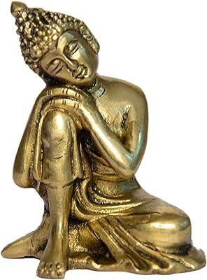BHARAT HAAT Buddha Brass Collectible Handicraft Art