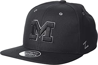 Zephyr Men's Z11 Ebony Snapback Cap, Black, Adjustable
