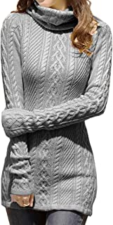 Women Polo Neck Knit Stretchable Elasticity Long Slim...
