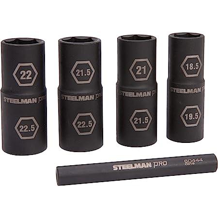 Drive 19mm x 21mm Dual Sided Flip Impact Socket 301160 Steelman 1//2in