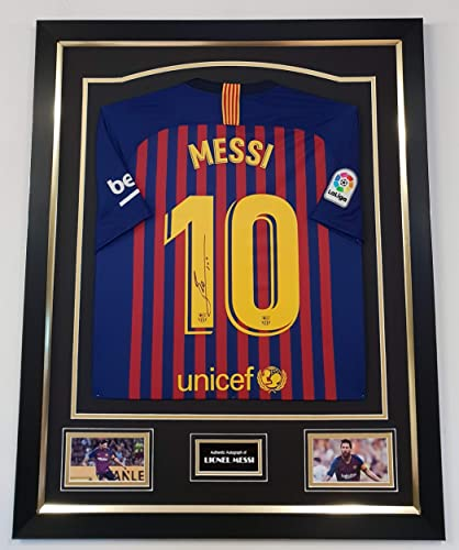 Www. Signedmemorabiliashop. Co. Uk dédicacée de Lionel Messi pour Homme autographe Jerseys