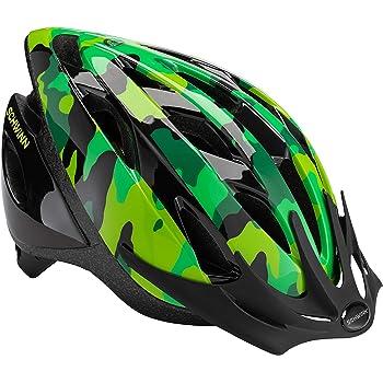 Schwinn Thrasher - Casco de Bicicleta Ligero con Sistema de Confort de 360 Grados con Ajuste de dial, niño, Camuflaje Verde
