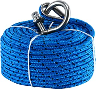 Amarine Made Boat Premium Anchor Rope for Electric Winches 3/16 x 100'